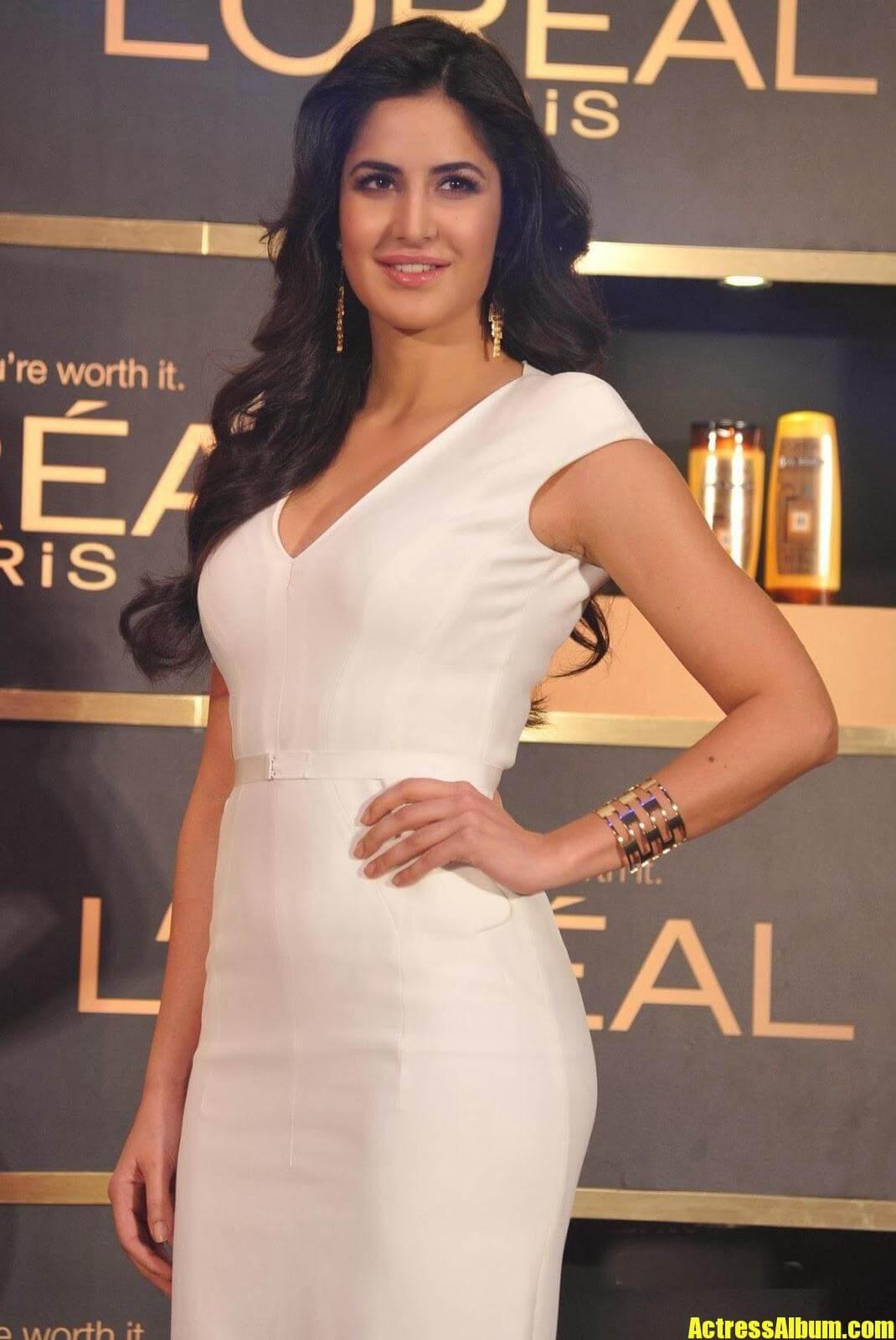 Bollywood Hot Heroine Katrina Kaif Latest Photoshoot in White Frock