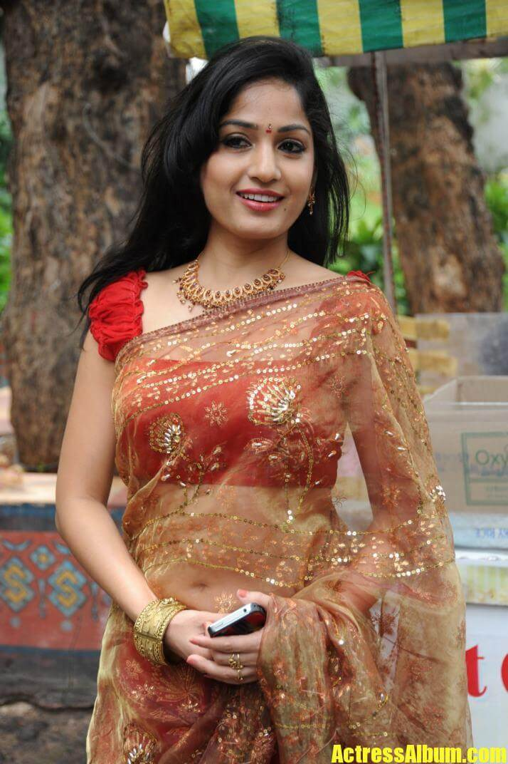 Madhavi Latha Latest Photos In Red Saree - Actress Album-3867