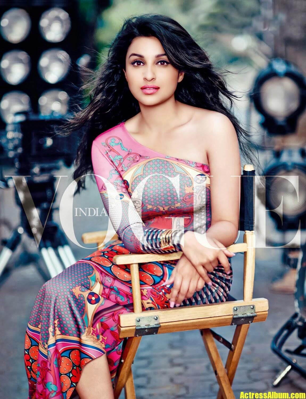 Bollywood Hot Parineeti Chopra Latest Vogue Magazine