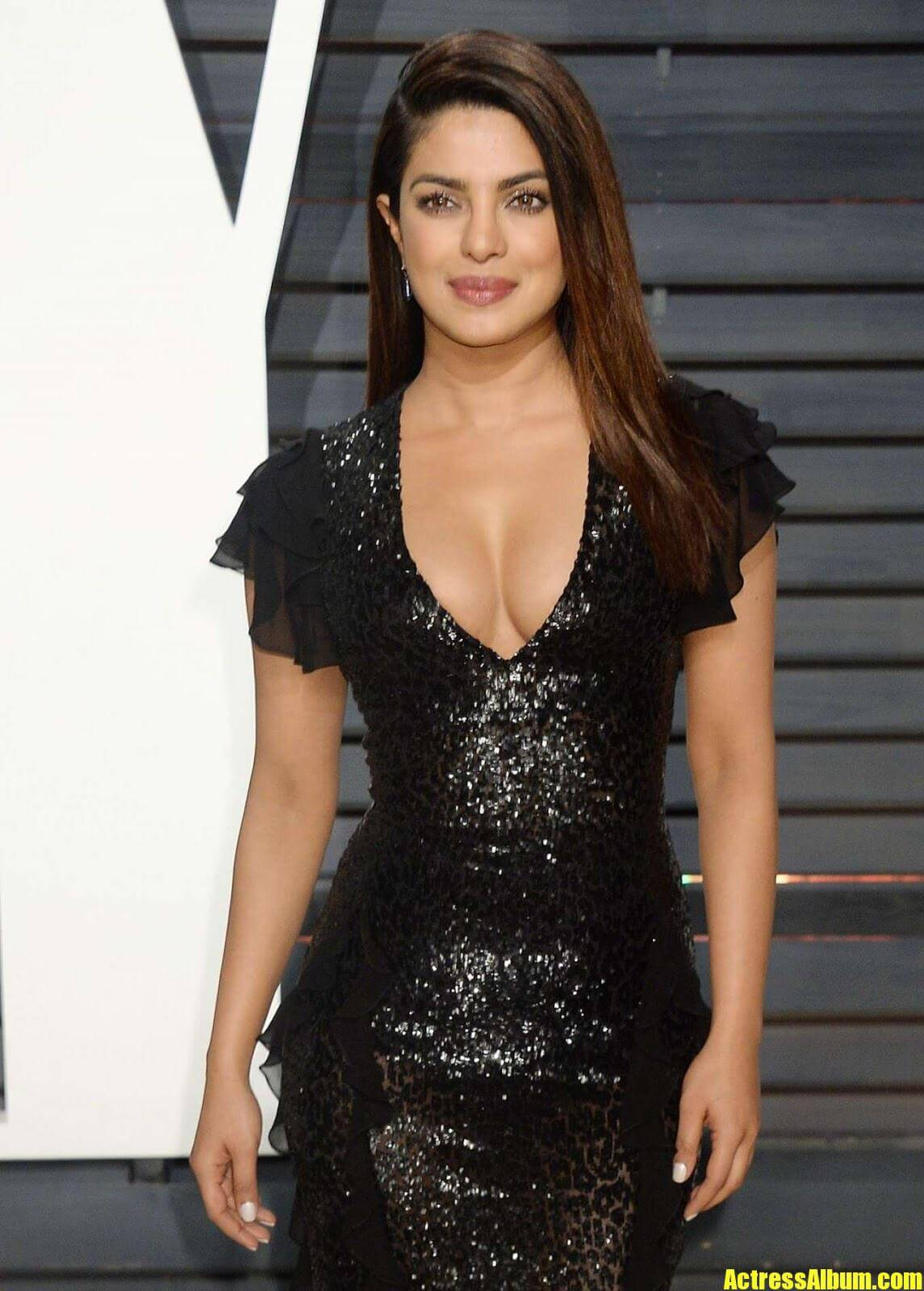 Priyanka Chopra In Black Gown