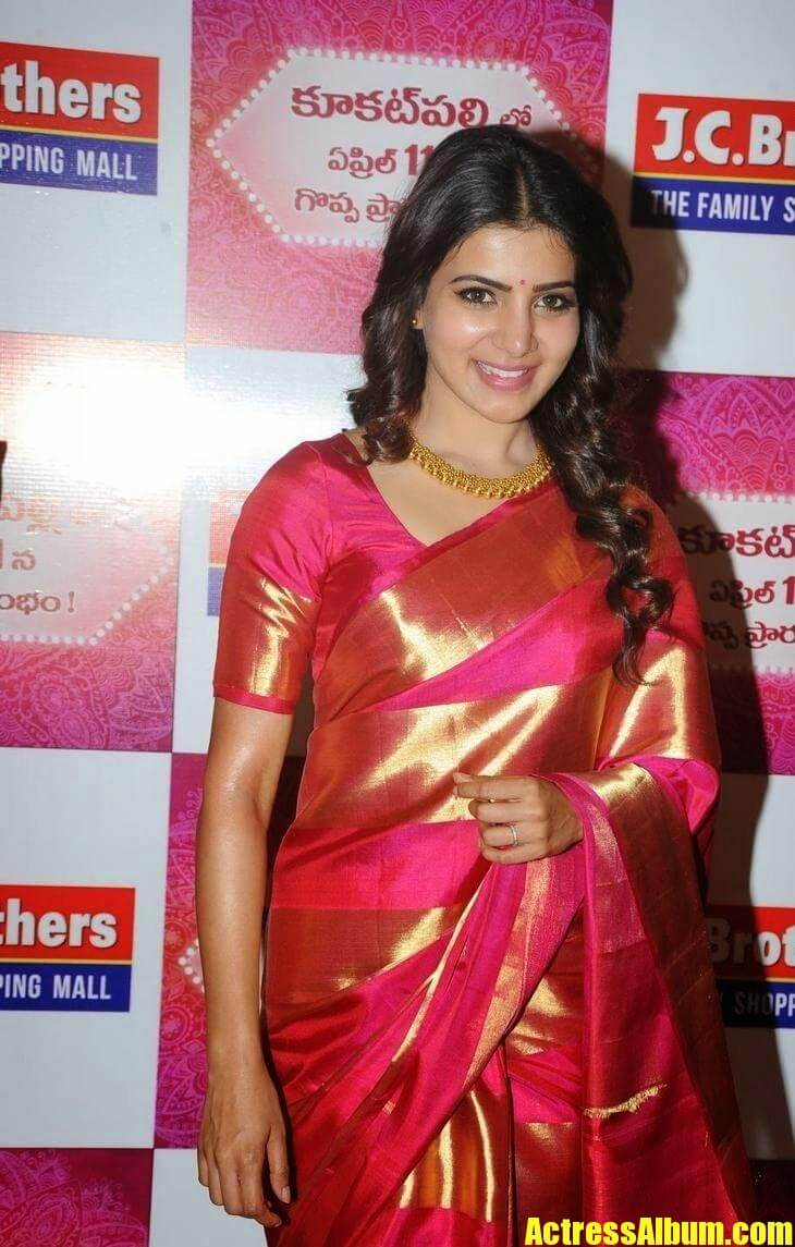 Actress Samantha Saree Pics