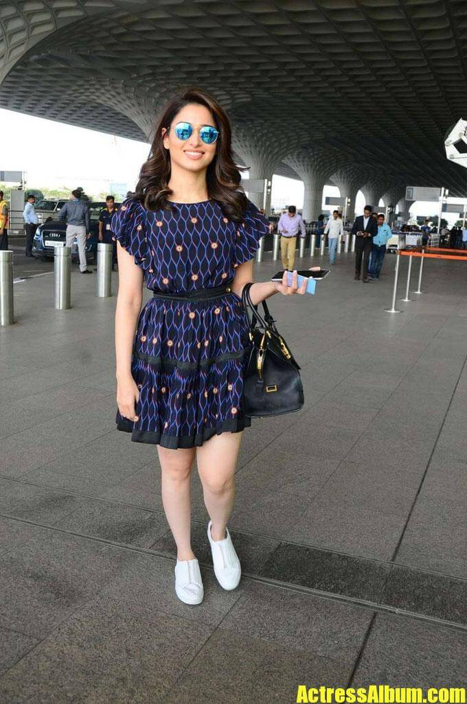 Tamanna Images Captured At Airport