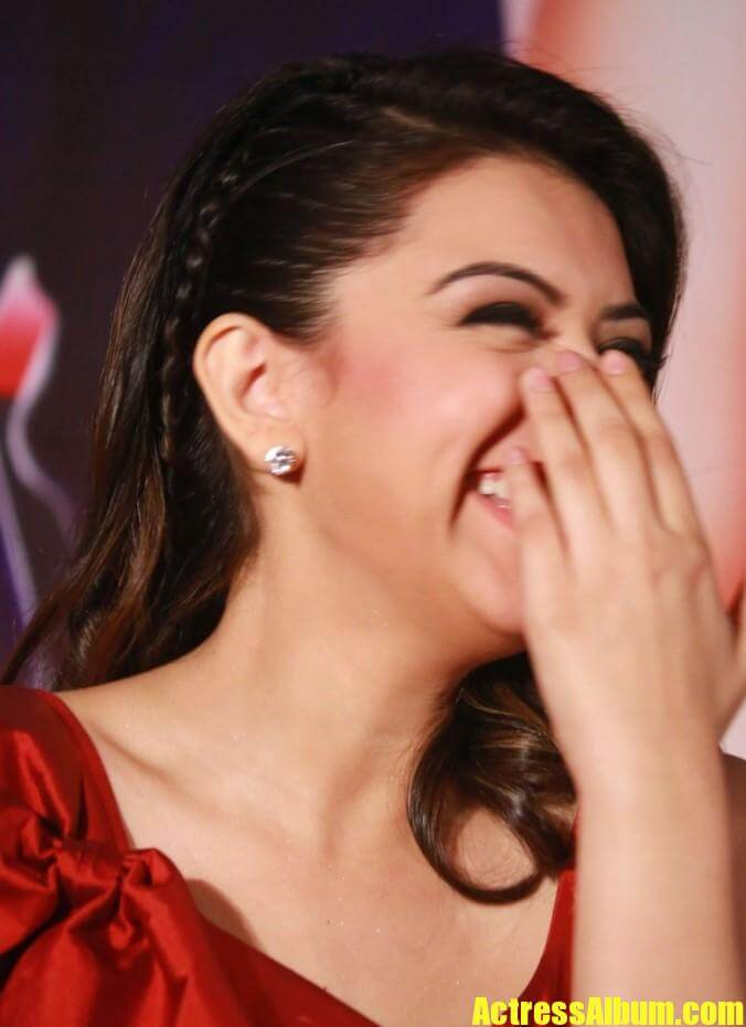 Heroine Hansika Hot Photos In Red