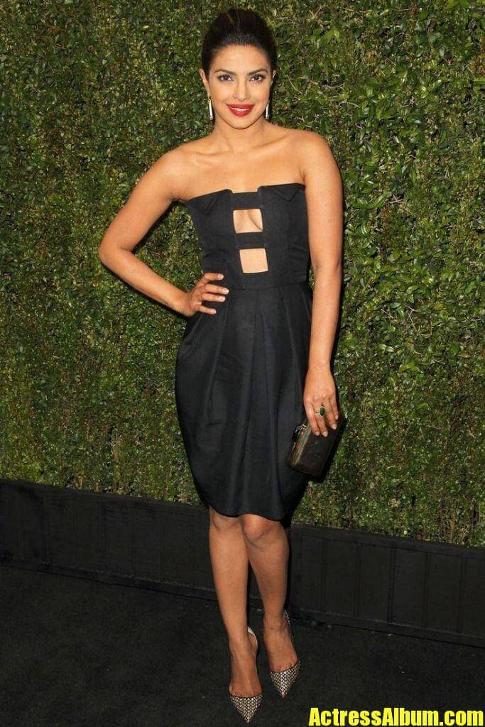 Priyanka Chopra in black dress - Actress Album