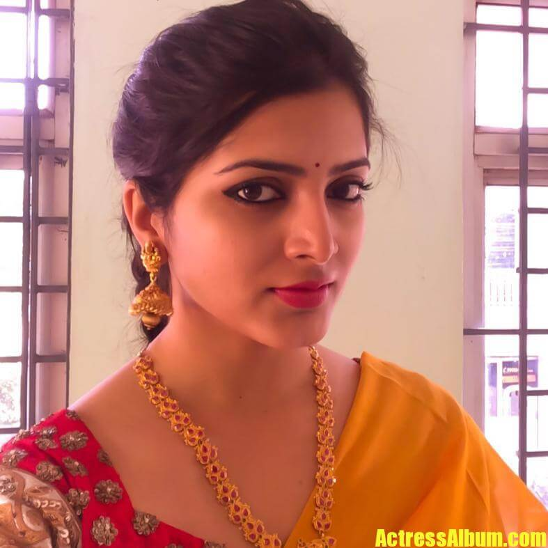 Beautiful Telugu Girl Pavani Gangireddy Smiling Face Close -7444