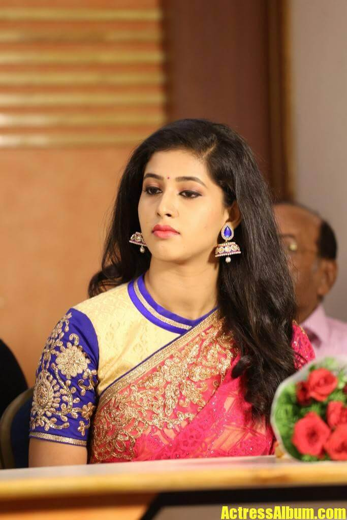 Beautiful Telugu Girl Pavani Long Black Hair Stills In Red -2055