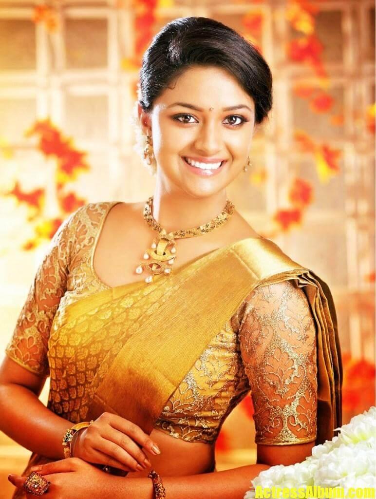 Keerthy Suresh Latest Photoshoot In Saree - Actress Album-2495