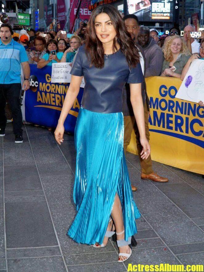 Priyanka Chopra In Blue At Good Morning America