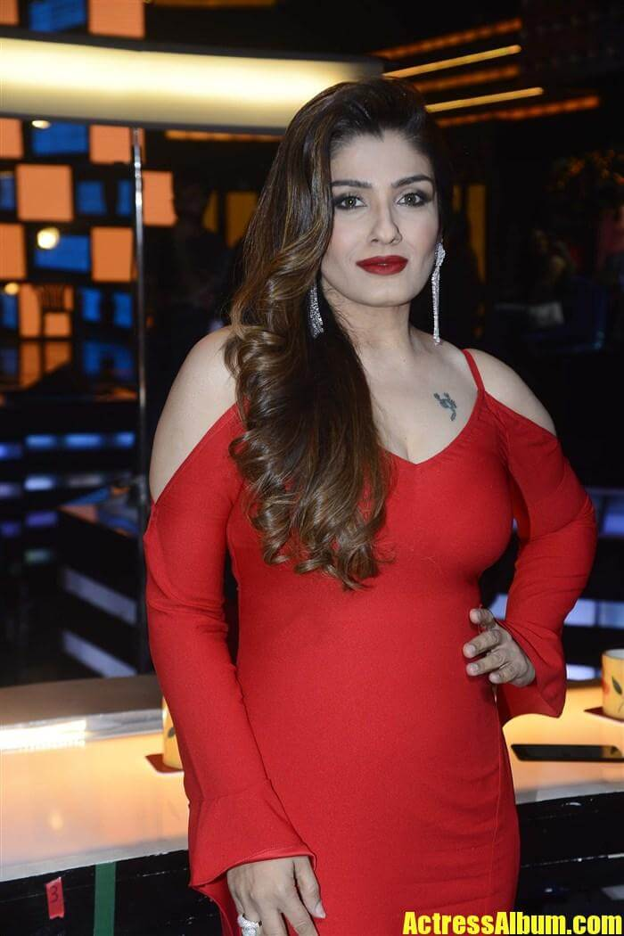 Raveena Tandon Red Dress Photos-2391