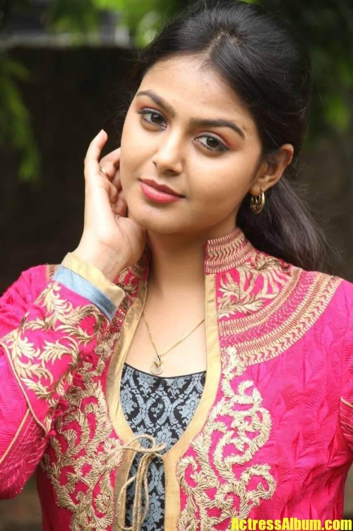 Beautiful Gujarati Girl Monal Gajjar Photos In Orange Dress-6822