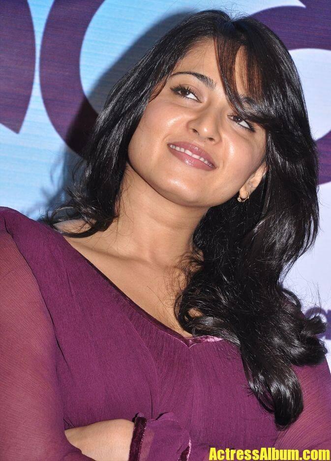 Anushka Shetty In Violet Dress