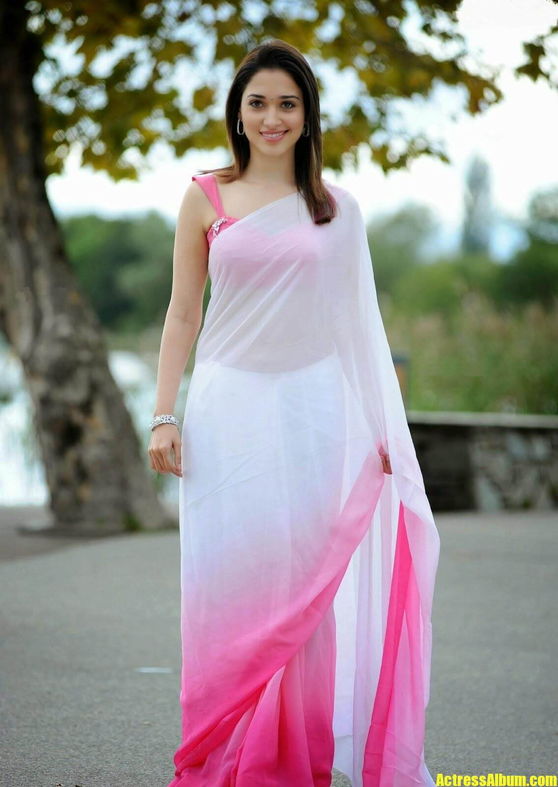 Tamanna In White Saree