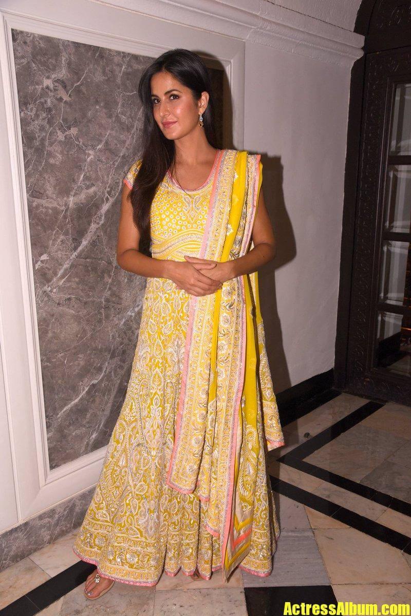 Katrina Kaif In Yellow Dress At WeUnite conference