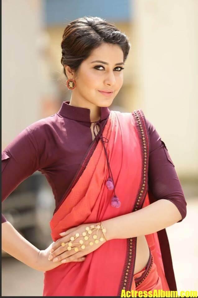 Rashi Khanna In Red Saree