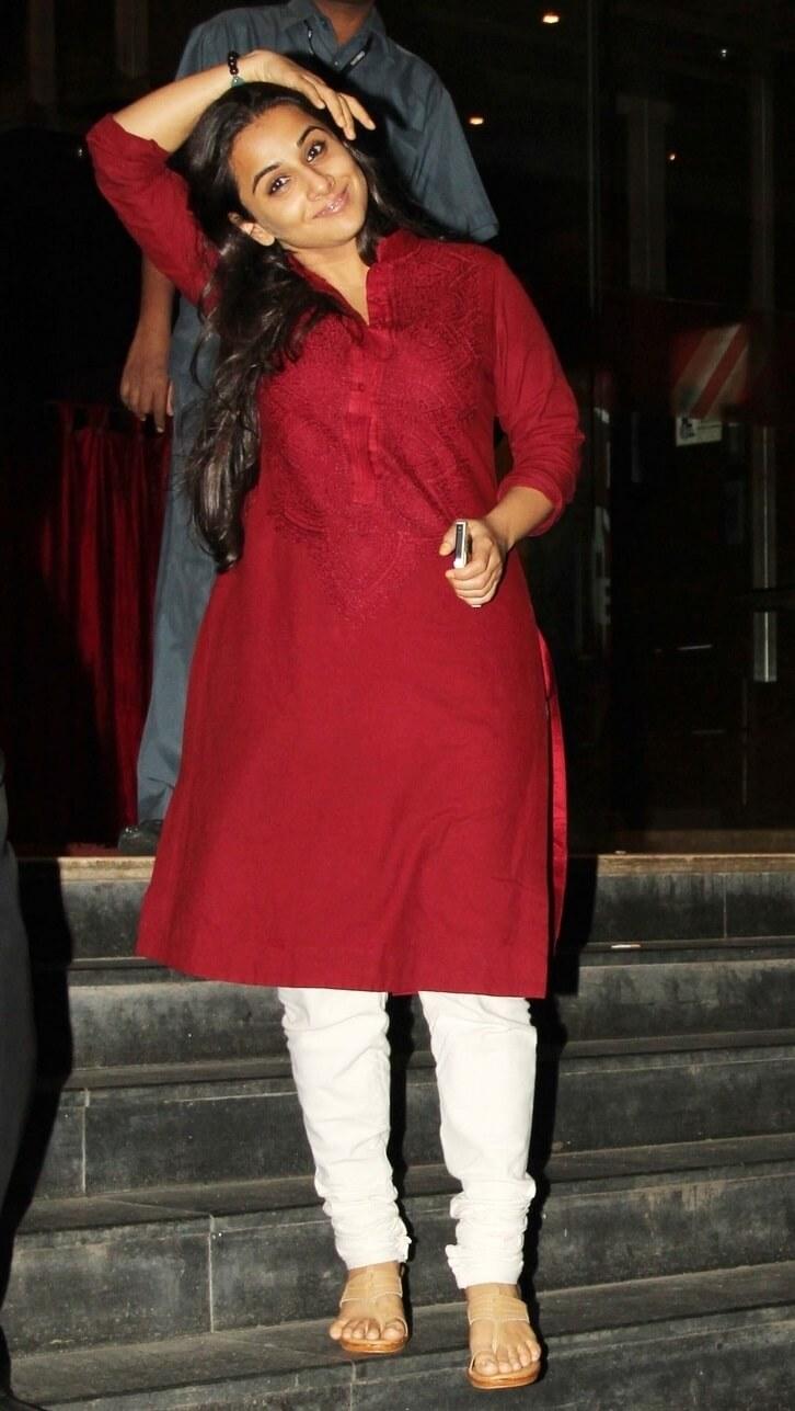 Vidya Balan Latest Pics In Maroon Dress