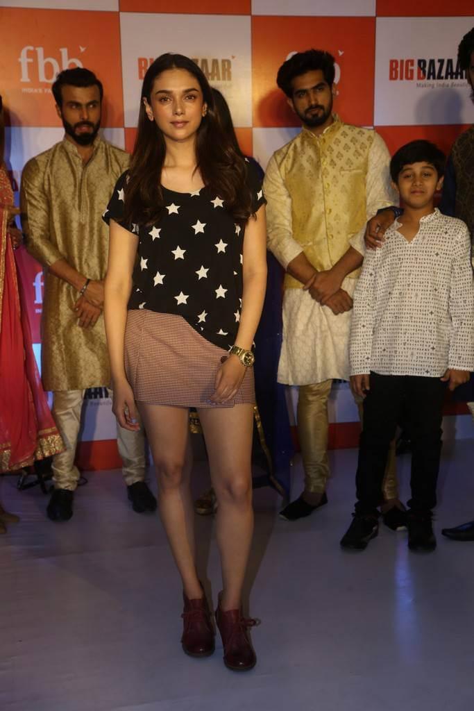 Aditi Rao Hydari In Miniskirt At FBB Store Launch