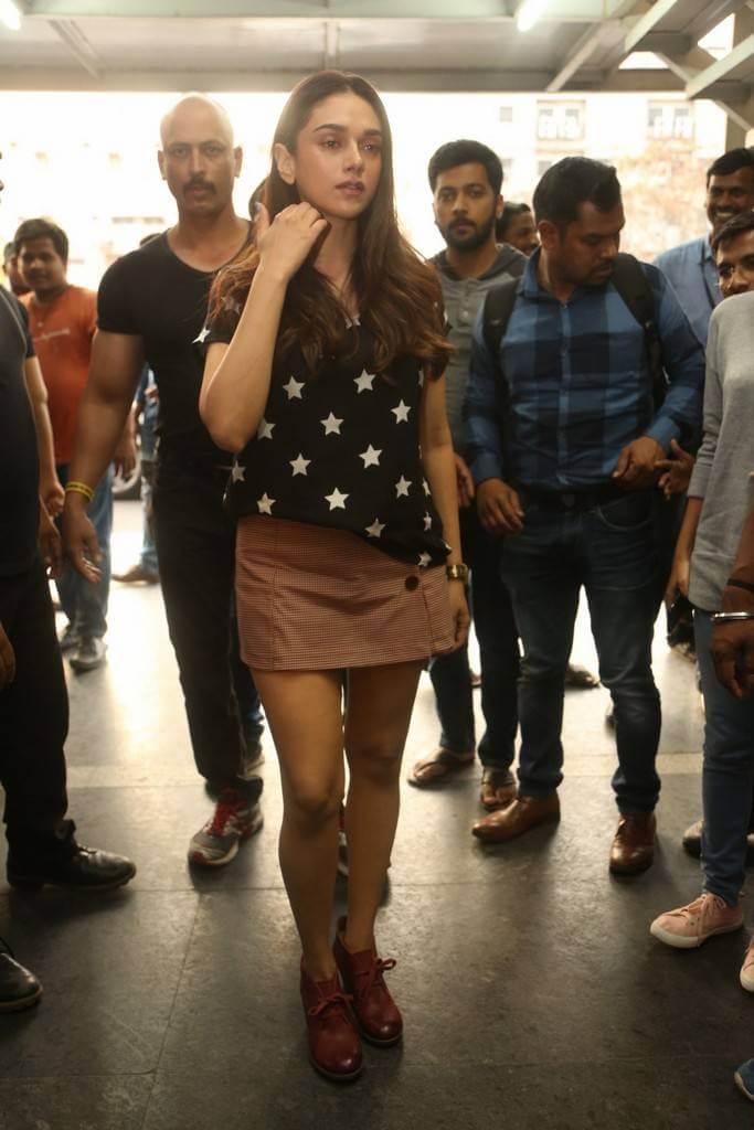Aditi Rao Hydari launched FBB Store In Miniskirt