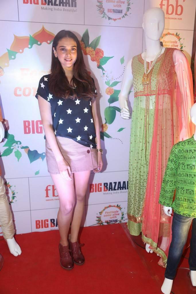 Actress Aditi Rao Hydari Latest Stills In Miniskirt