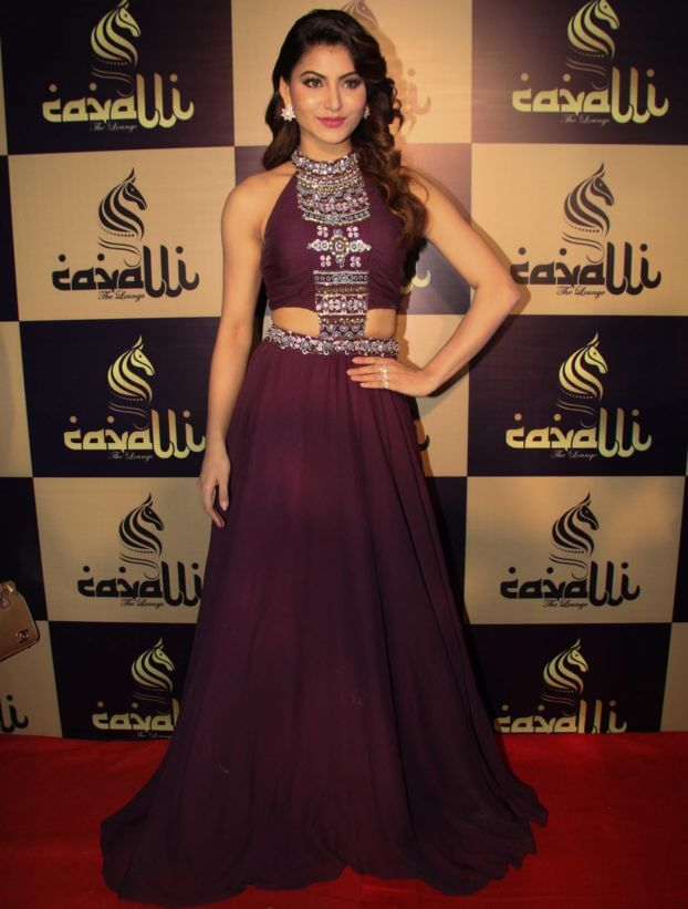 Urvashi Rautela Exclusive Pics In Maroon dress
