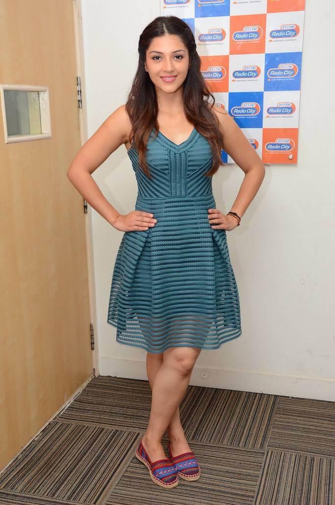 Actress Mehreen Kaur Stills In Green Skirt