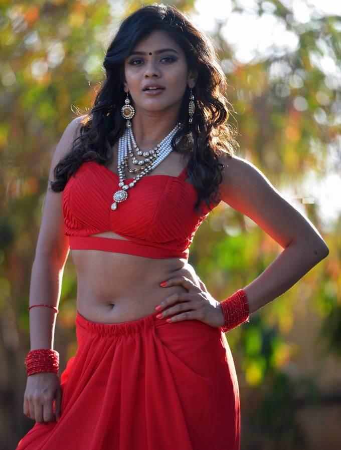 Pretty Girl Hebah Patel Hot Photos In Red Dress - Actress