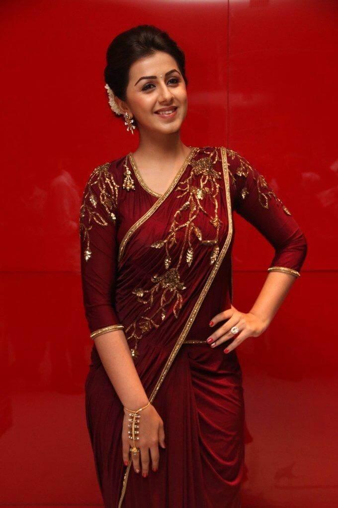 Tamil Actress Nikki Galrani Hot In Saree At Audio Launch Actress Album