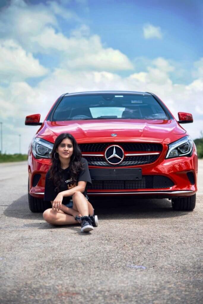 Nabha Natesh With Her New Mercedes Benz