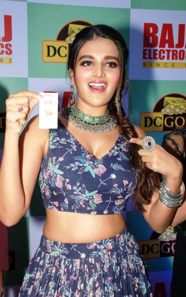 Nidhhi Agerwal At Bajaj Electronics DC Gold Hungama Winner