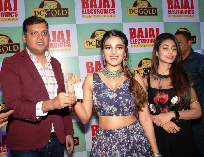 Nidhhi Agerwal Announcing DC Gold Winner