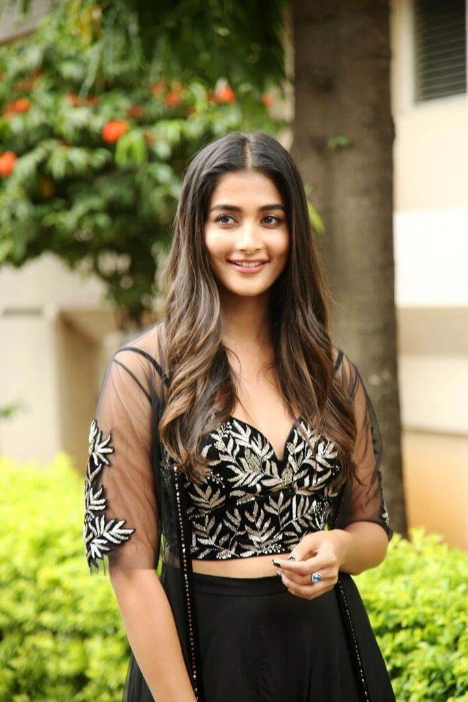 Pooja Hegde Stills in Black Dress
