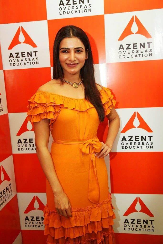 Samantha In Orange Dress