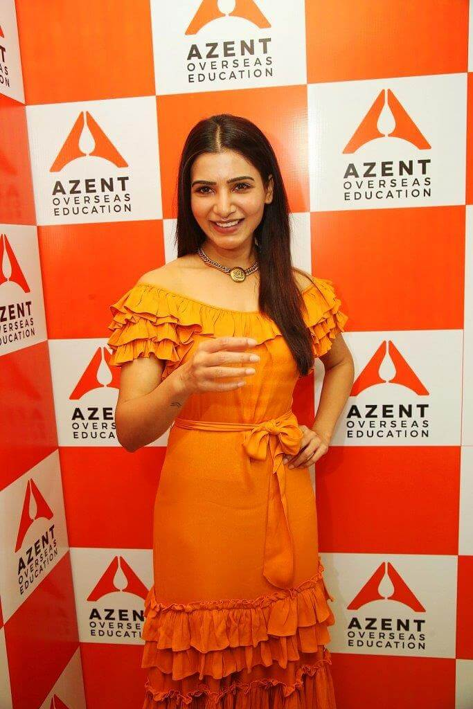 Samantha Launching Azent Overseas Education Centre