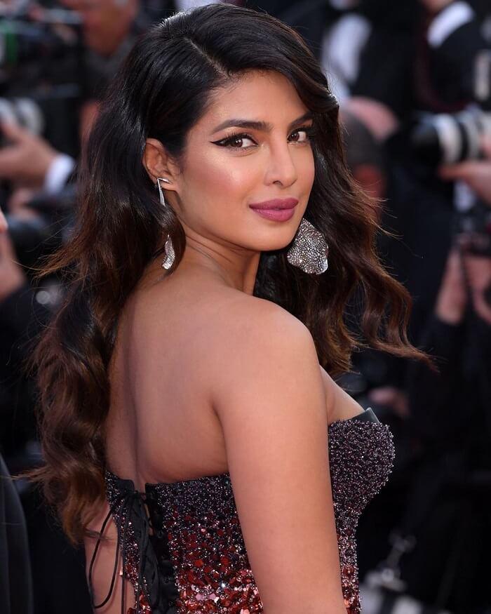 Priyanka Chopra Stills In Black Dress