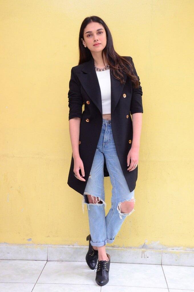 Bollywood Beauty Aditi Rao Hydari In Ripped Jeans