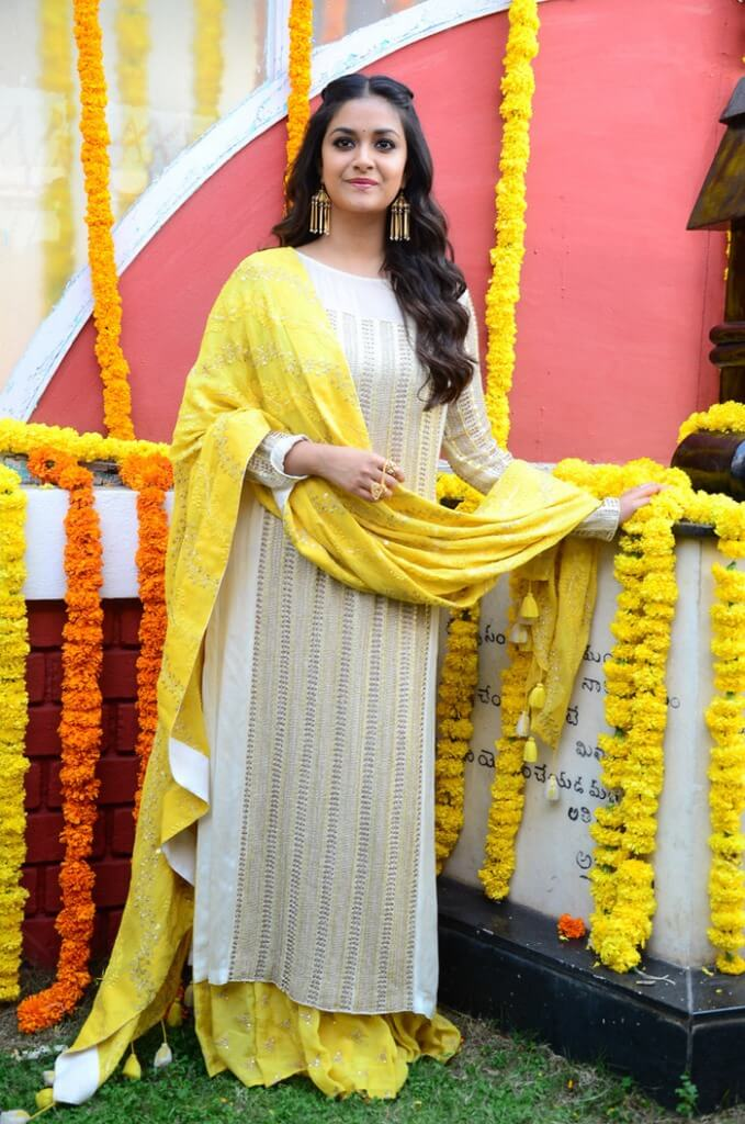 Images Of Keerthi Suresh At New Movie Launch Event