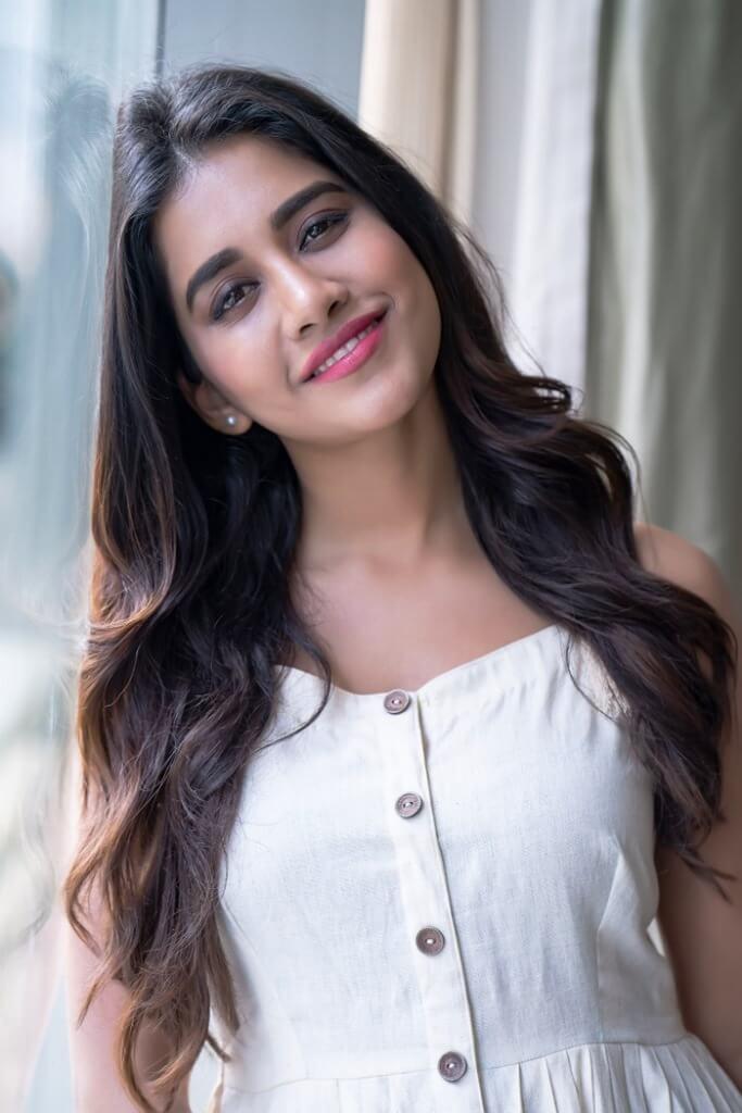 Nabha Natesh Hot Pictures In The White Dress