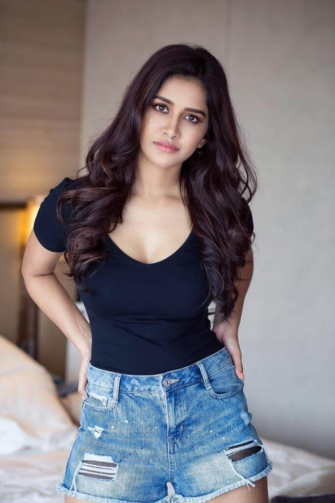Nabha Natesh Spicy Poses In Shorts