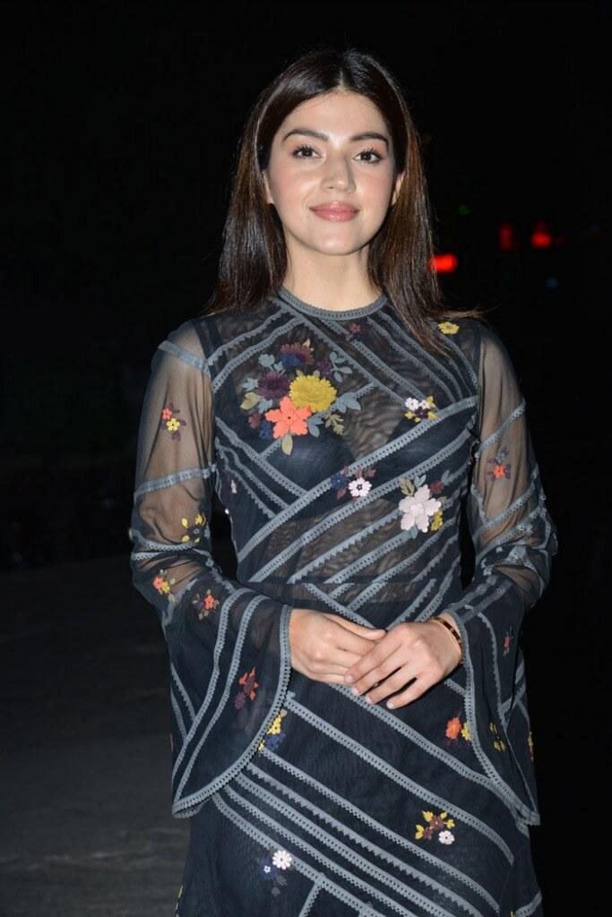 Mehreen Kaur in Transparent Dress