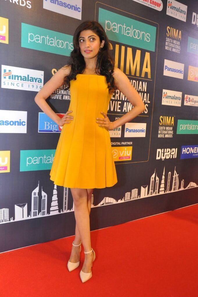 Pranitha In Yellow Dress