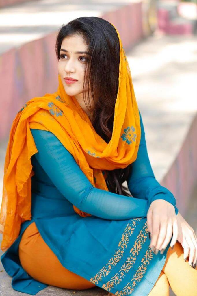 Priyanka Jawalkar In Blue Dress