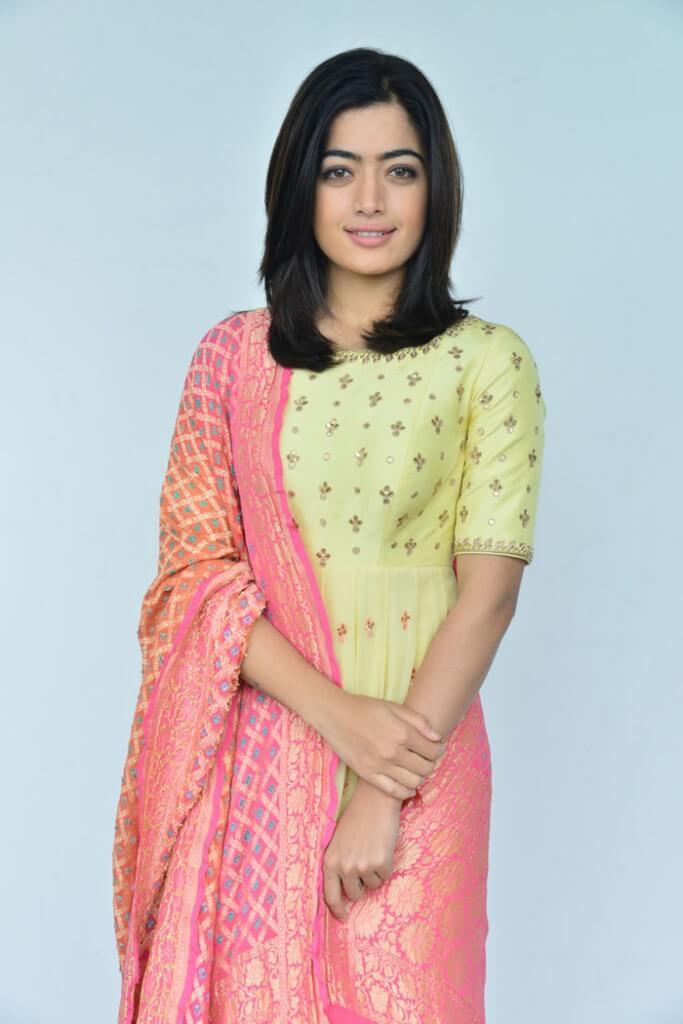 Rashmika Mandanna Exclusive Photos In Long Salwar