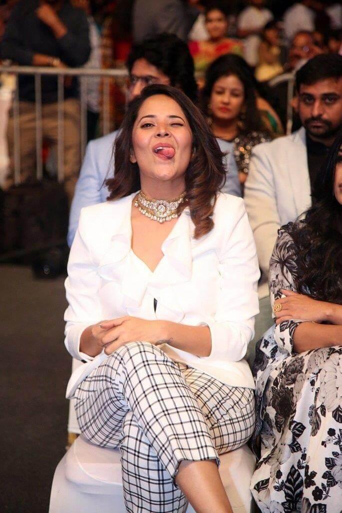 Anasuya Bharadwaj In White Shirt