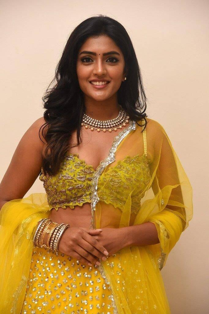 Eesha Rebba In Yellow Lehenga