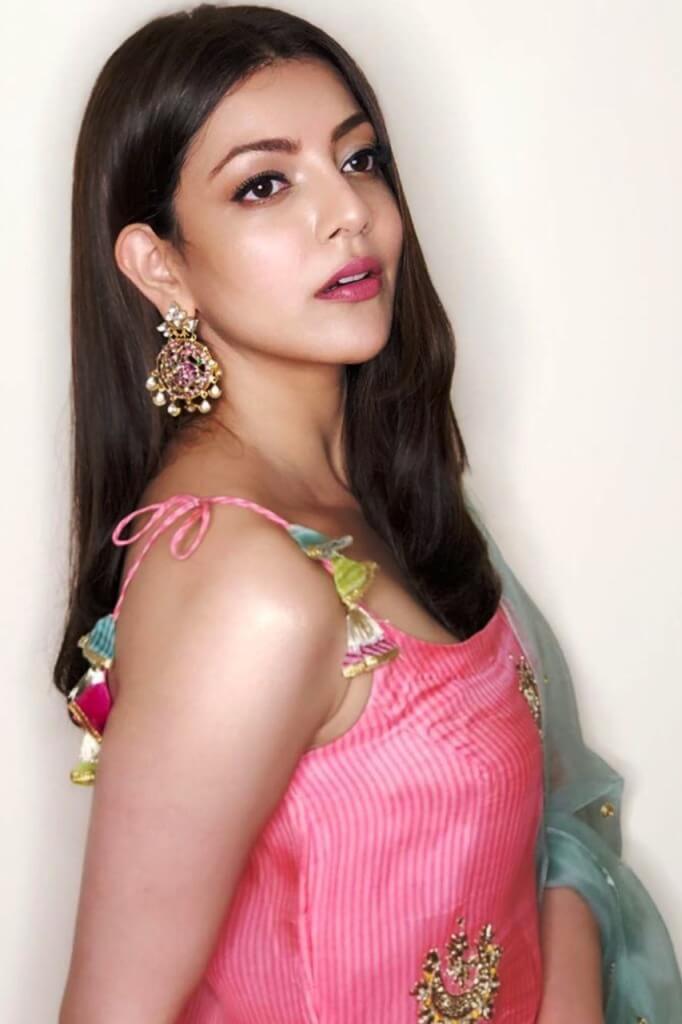 Kajal Agarwal In Pink Churidar