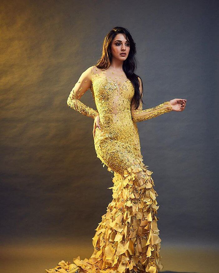 Kiara Advani In Golden Dress