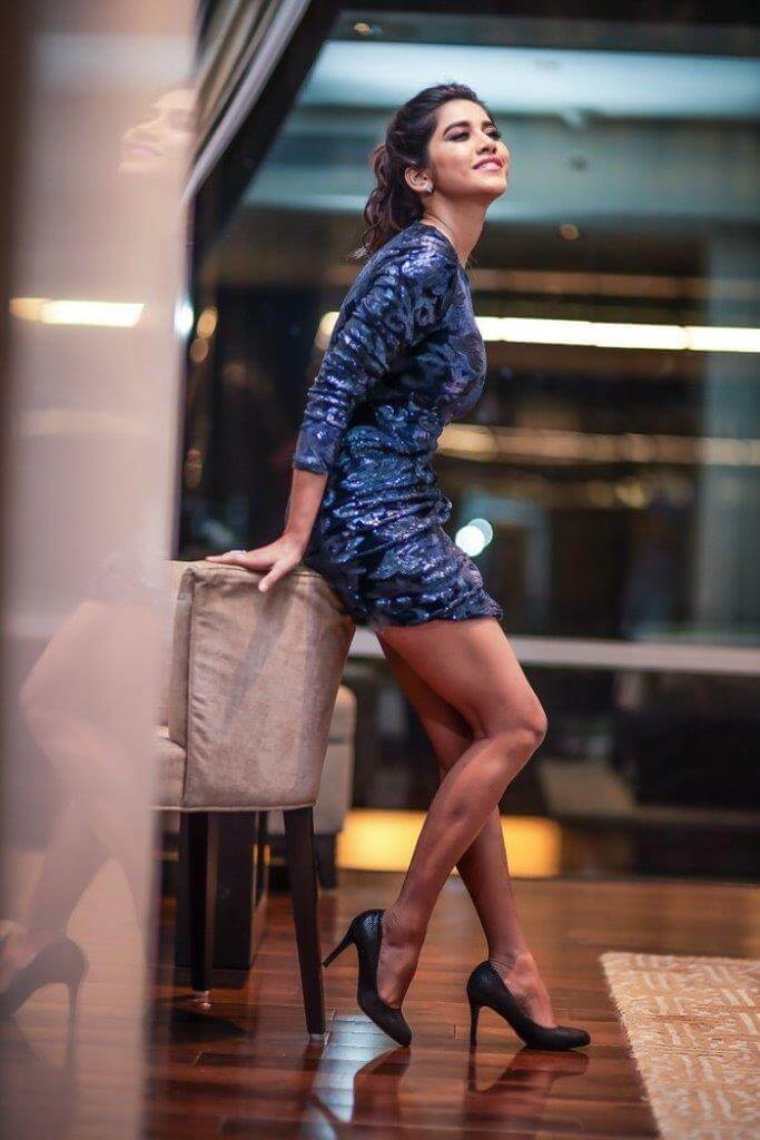 Nabha Natesh In Blue Skirt