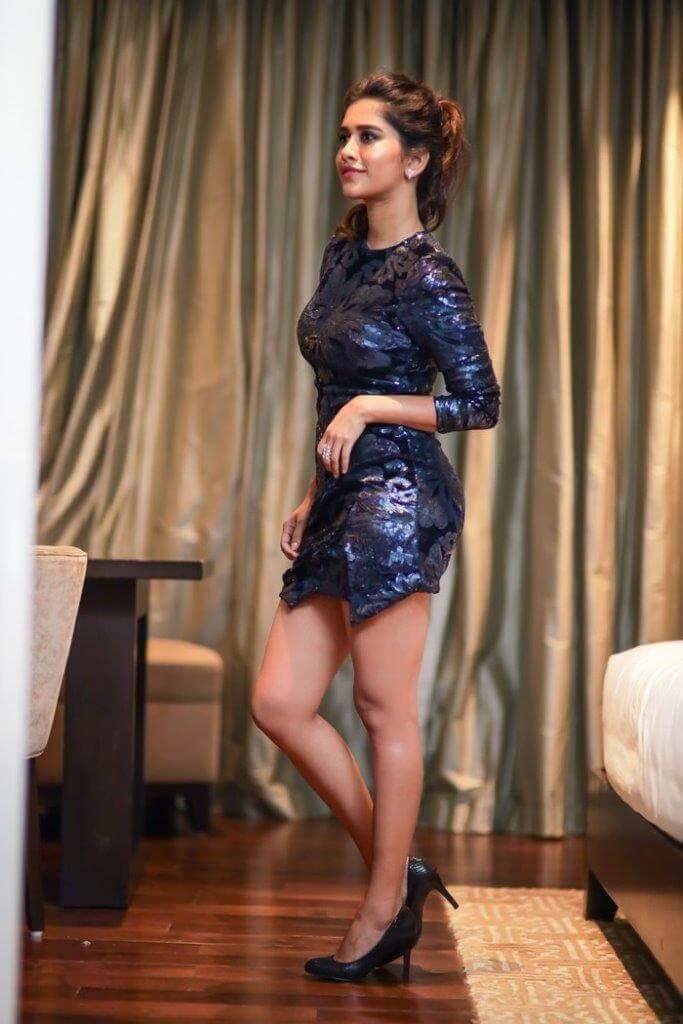 Nabha Natesh Stills In Skirt