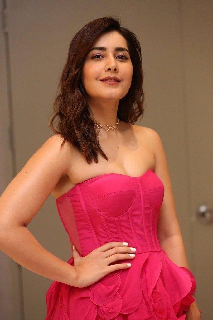 Rashi Khanna In Rose Dress
