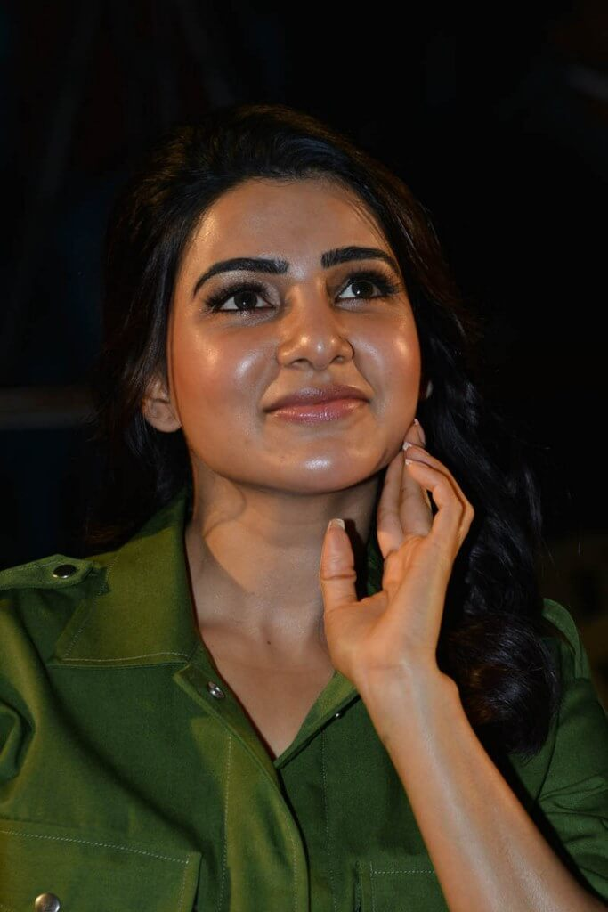 Samantha Pics In Green Shirt