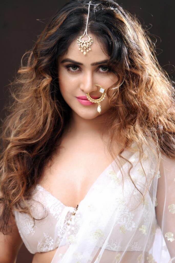 Sony Charistha In White Saree
